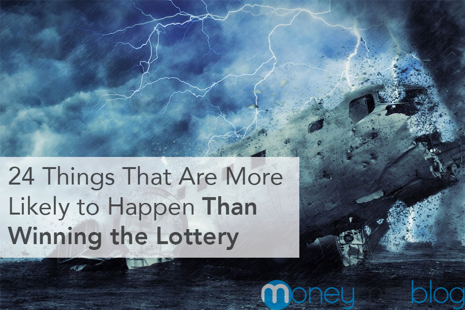 things more likely than winning the lottery