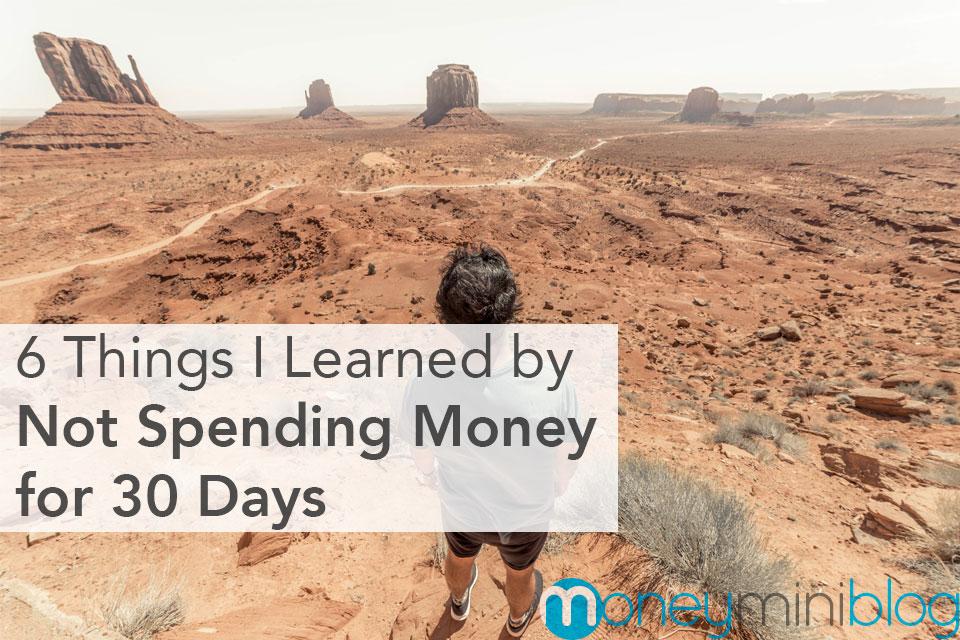 no spending challenge money
