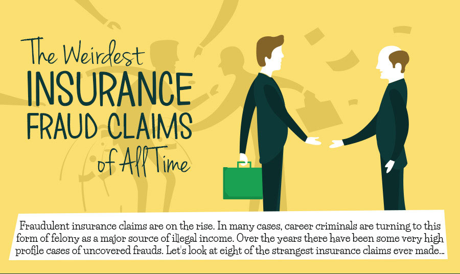 The Weirdest Insurance Fraud Claims of All Time [Infographic]