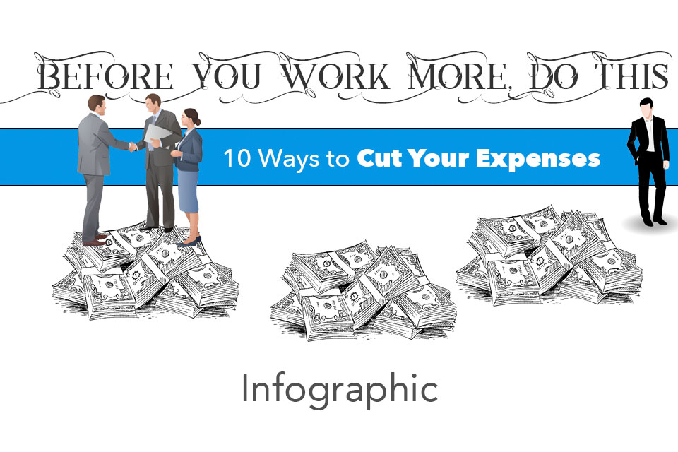 cut expenses save money infographic