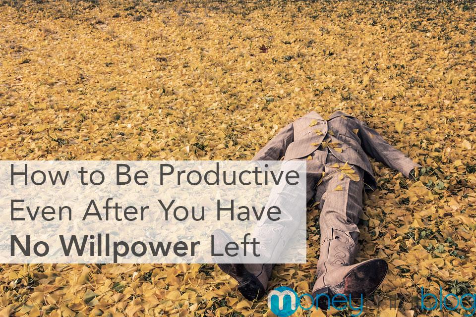 productivity no willpower motivation