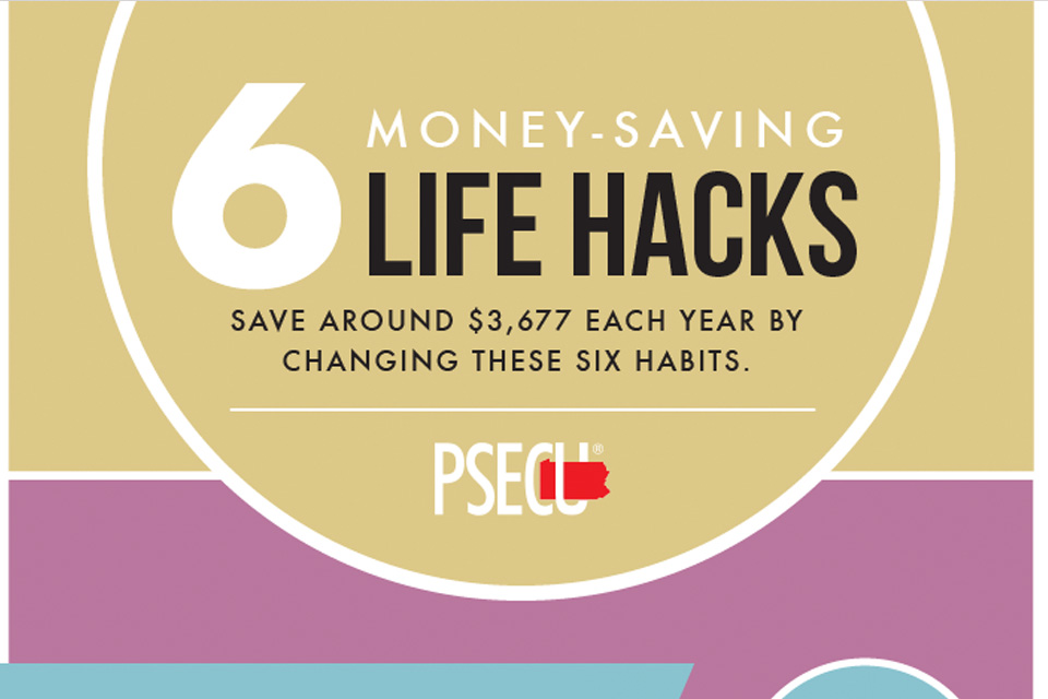 6 Money-Saving Life Hacks [Infographic]