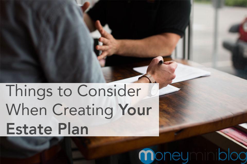 estate plan things consider
