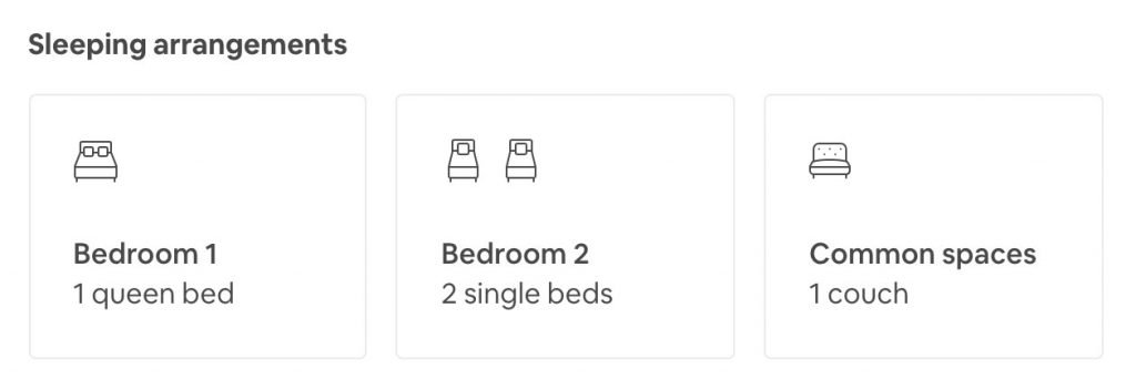 airbnb large family beds