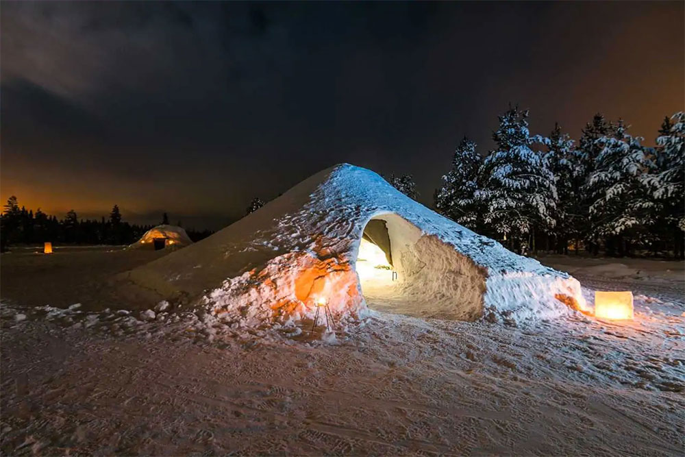Crazy Things AirBNB Snow Igloo