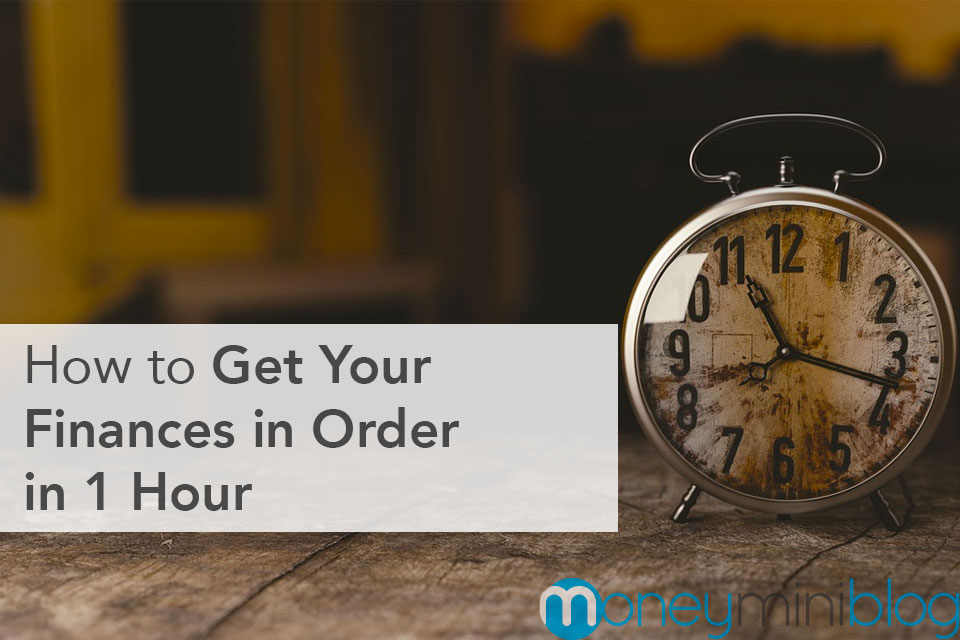 organize finances one hour