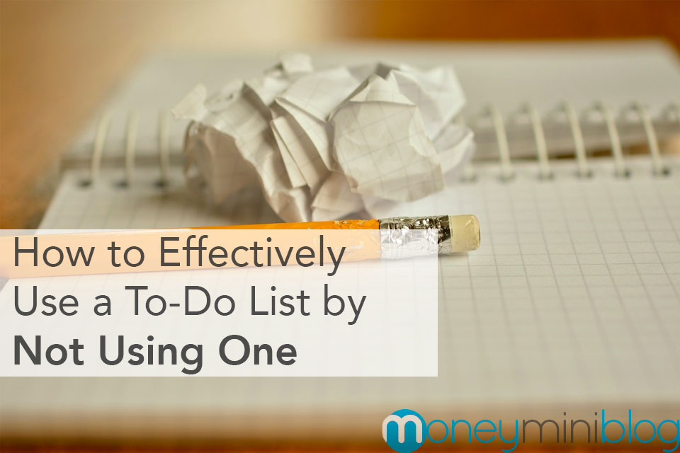 not using to do list