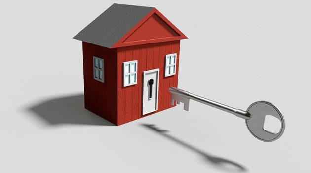 a house and a key symbolizing the important factors needed in building a rental property empire