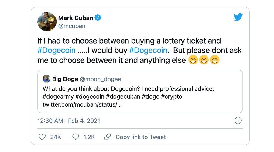 Mark Cuban Dogecoin