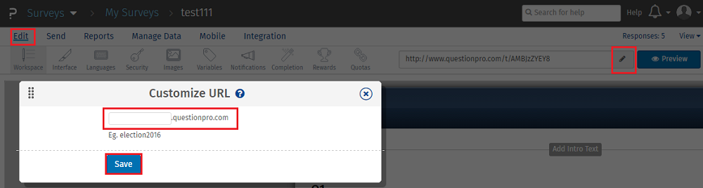 customize URLs